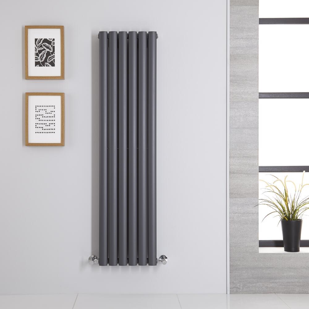 Radiateur Vertical Vitality Anthracite 140cm x 35.4cm x 7.8cm 1044 watts