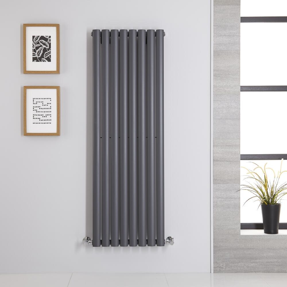 Radiateur Vertical Vitality Anthracite 140cm x 47.2cm x 5.6cm 915 watts
