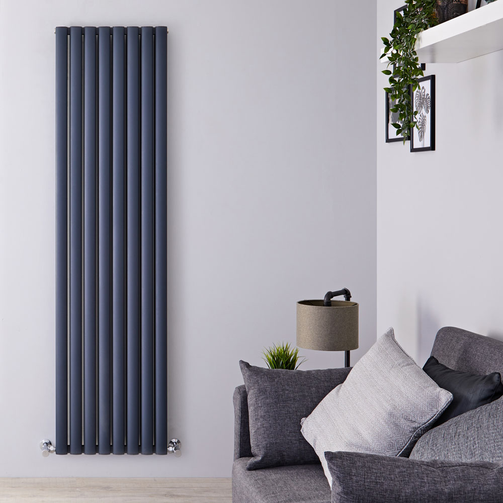 Radiateur Aluminium Design Anthracite 180 x 47cm 2004 watts Vitality Air