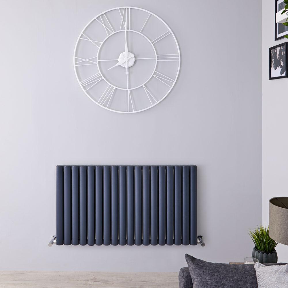 Radiateur Aluminium Design Anthracite Vitality Air 60 x 107cm 2067 watts