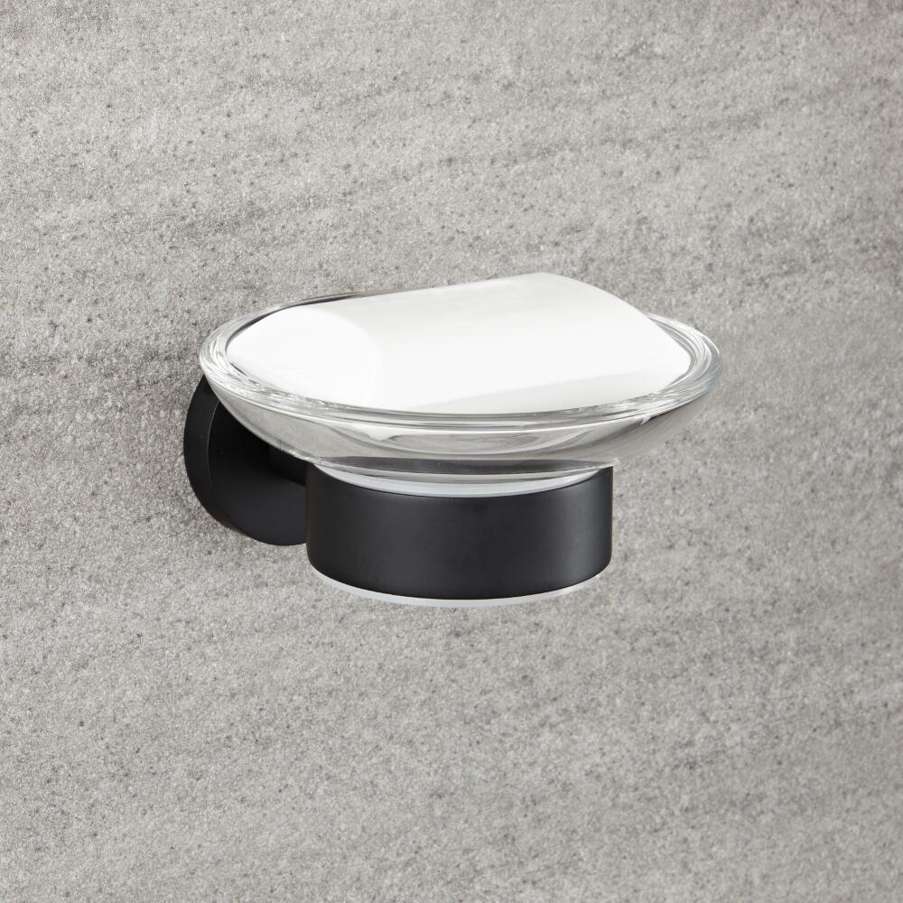 Porte-savon noir mat - Nox
