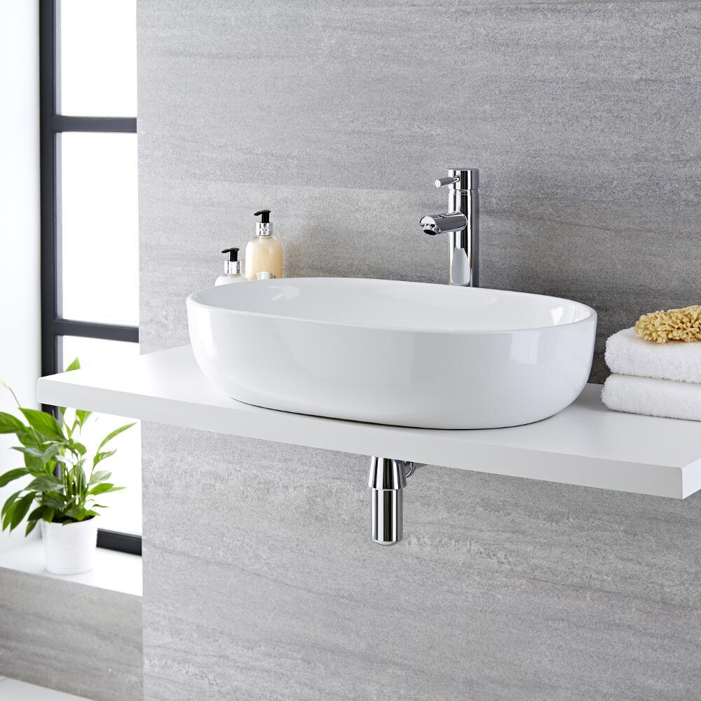 Vasque  à poser ovale 59 x 41cm Otterton & Mitigeur Haut