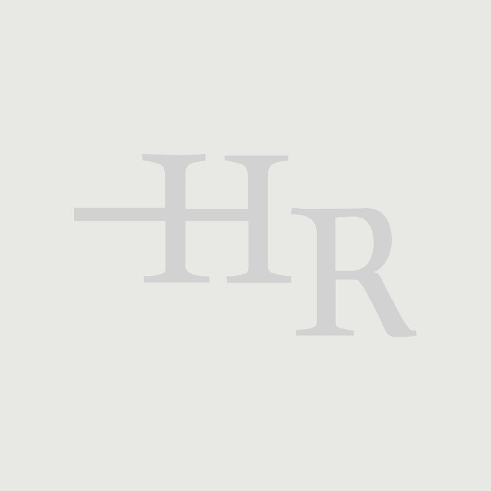 Meuble double vasque à poser blanc avec plan chêne doré - Newington - 180cm