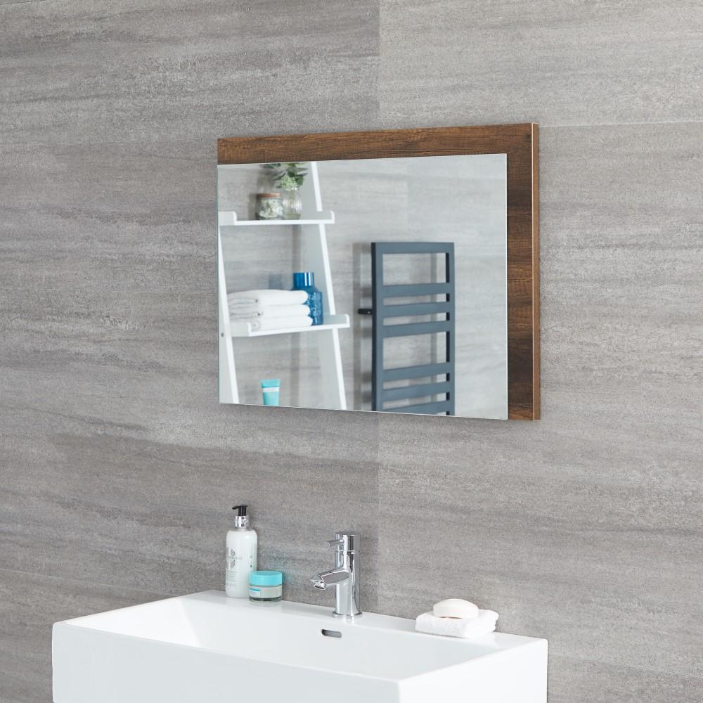 Miroir salle de bain 50x70cm Hoxton Chêne foncé