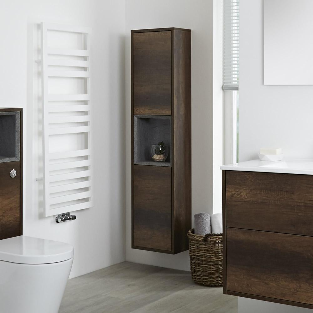 Colonne salle de bain 150x35cm Hoxton Chêne Foncé