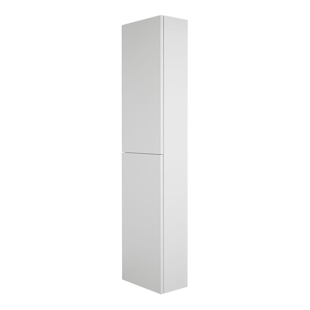 Colonne de Rangement Newington - 35x150cm - Blanc Mat