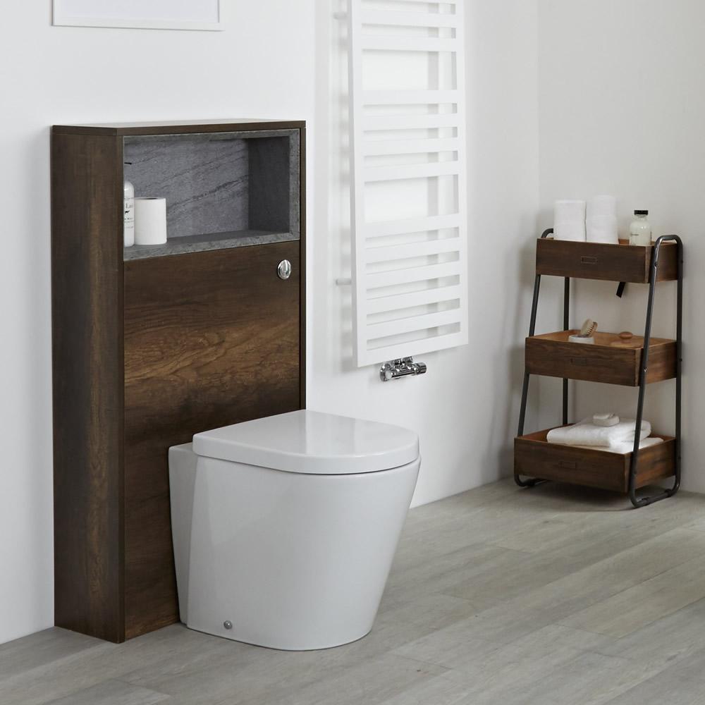 Habillage WC  Hoxton Chêne Foncé - 60x115cm