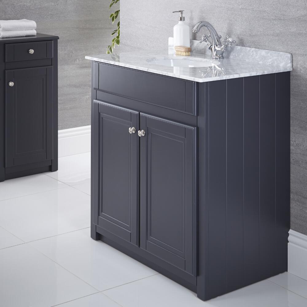 Meuble-lavabo Charlton Anthracite 80x82cm