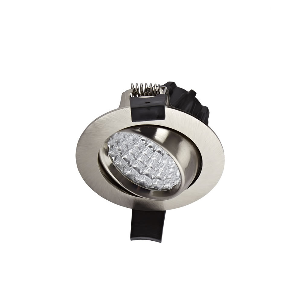 Biard Spot LED Encastrable 7 Watts Dimmable & Orientable Nickel brossé Ø8.1cm