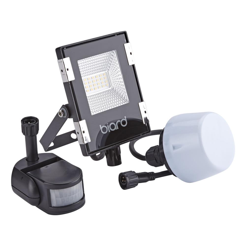 Biard Projecteur LED Noir 10 Watts avec détecteur IP65