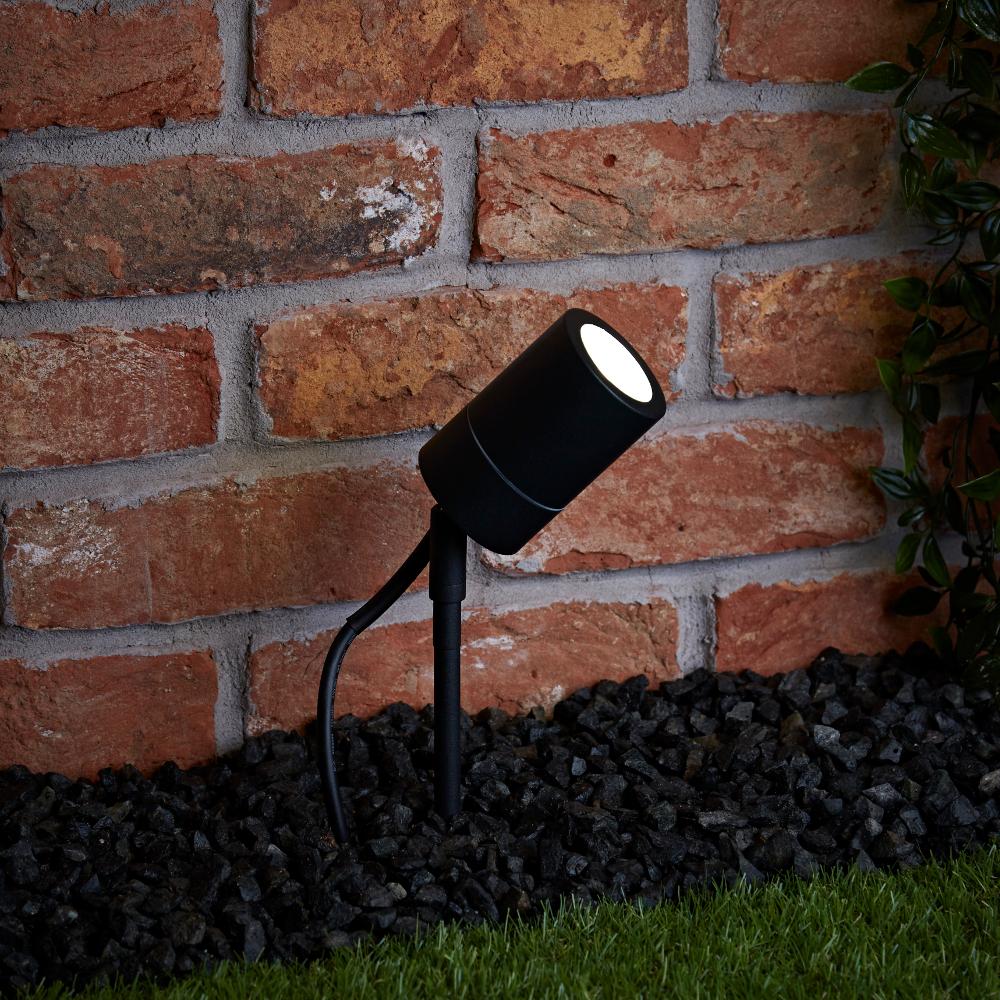Biard Éclairage Jardin Spot Extérieur à Piquer Noir IP44 Le Mans