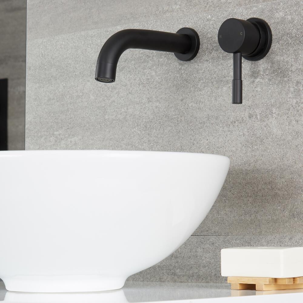 Mitigeur mural lavabo noir - Nox