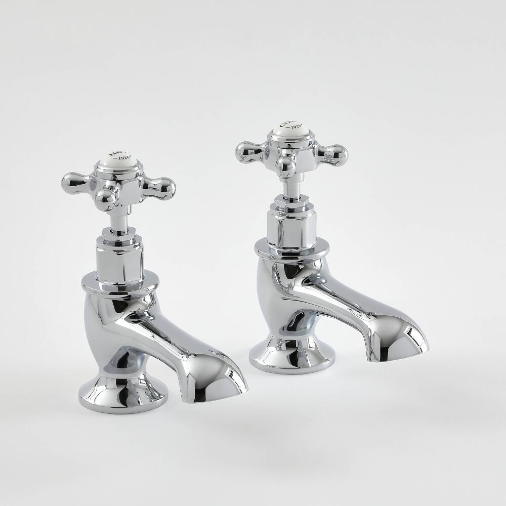 Paire de robinets baignoire rétro - croisillon – choix de finition - Elizabeth