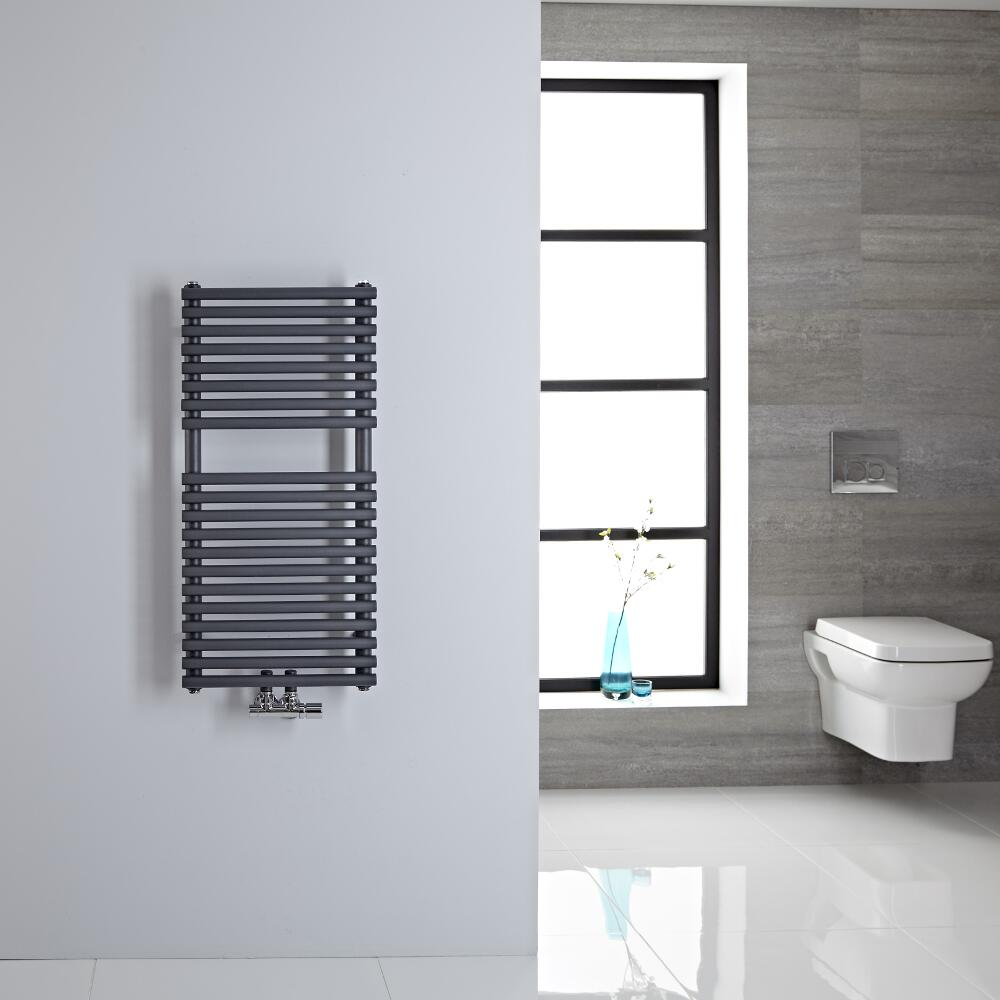 Sèche-serviettes eau chaude 83.5x40cm 304 watts Magera Anthracite