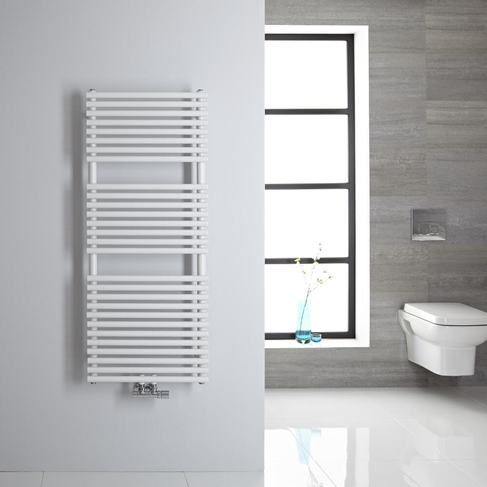 Sèche-serviettes eau chaude blanc 121,5 x 50cm 362 watts Magera