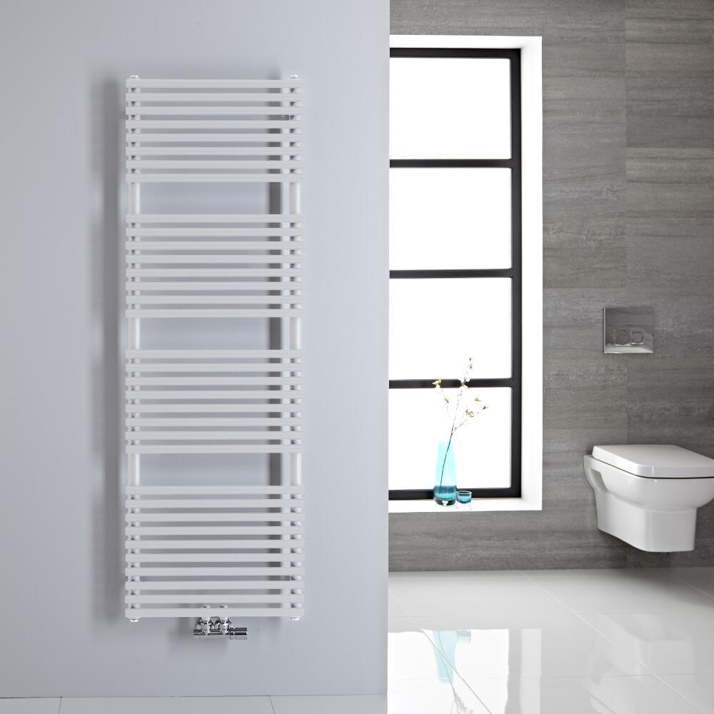 Sèche-serviettes eau chaude blanc 150x50cm 407 watts Magera