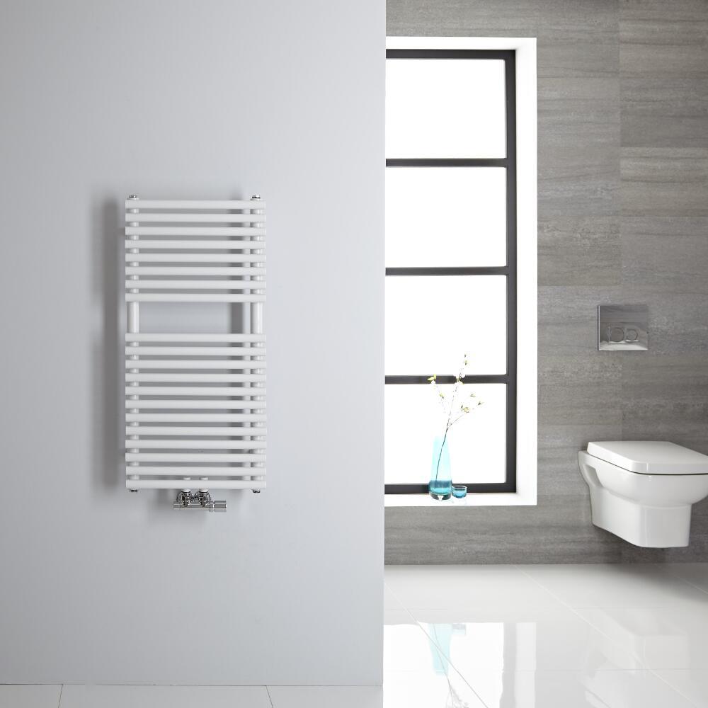 Sèche-serviettes eau chaude blanc 83.5x40cm 304 watts Magera