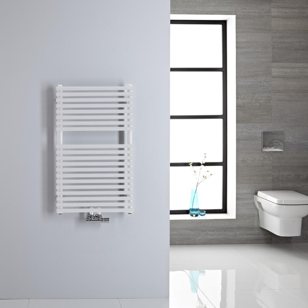 Sèche-serviettes eau chaude blanc 83.5x50cm 304 watts Magera