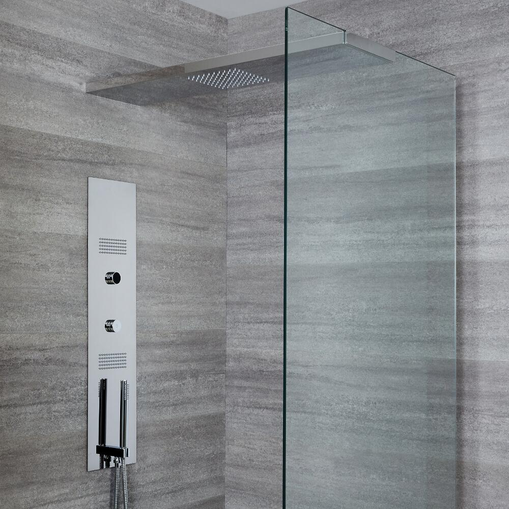 Colonne de douche digitale encastrée avec pommeau de 100 cm - Narus