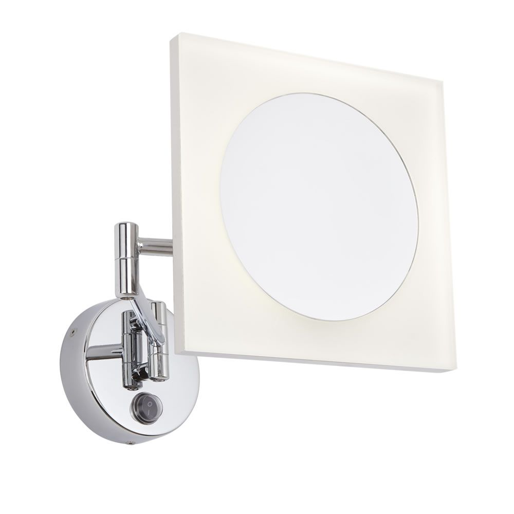 Miroir Grossissant Salle de Bains lumineux 16W Ladoga 16x16cm