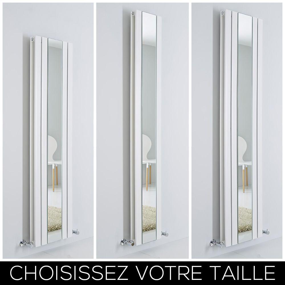 Hudson Reed Sloane 180 x 26,5cm Radiateur Vertical Design avec Miroir Blanc