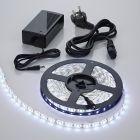 Biard Kit bande lumineuse 5 mètres étanche 300 LED blanc 5050 avec alimentation électrique