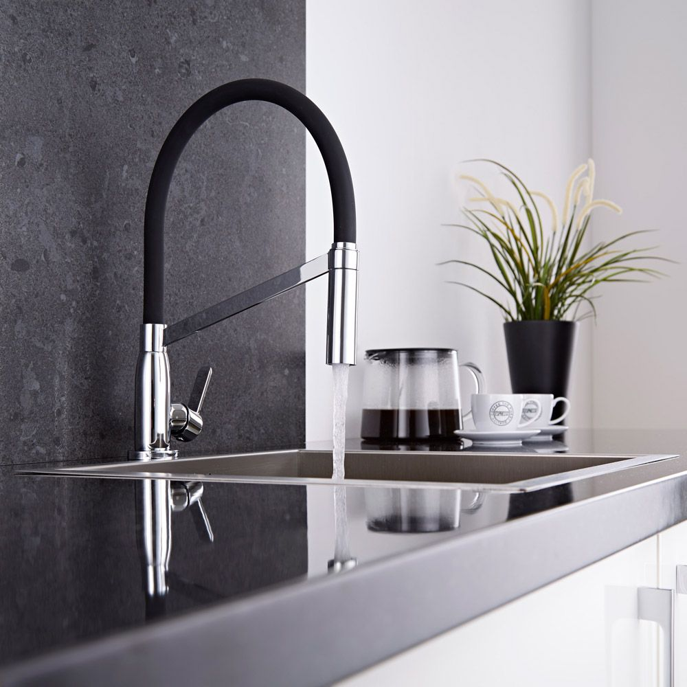 mitigeur cuisine noir avec douchette. Black Bedroom Furniture Sets. Home Design Ideas
