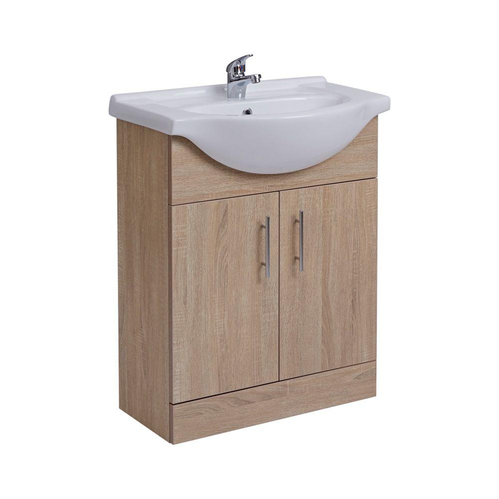 meuble lavabo 65x78x45cm classic oak