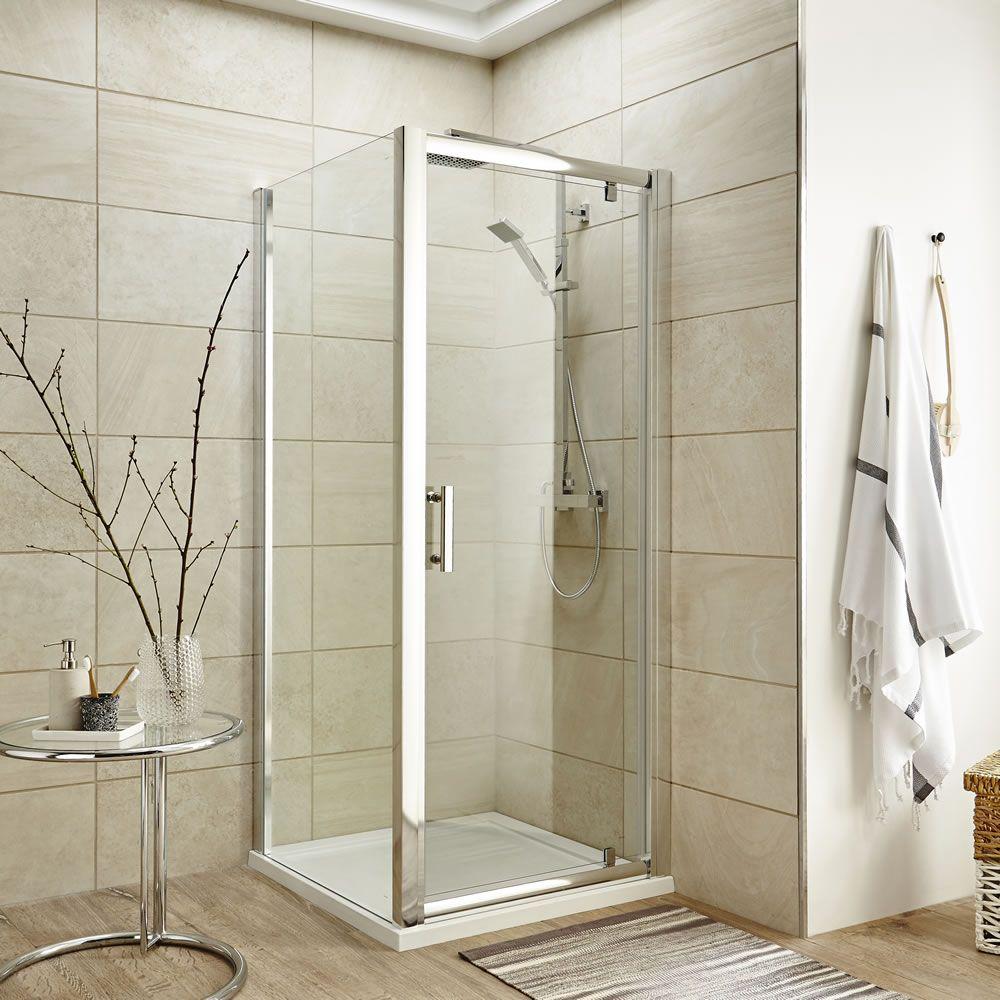 cabine de douche porte pivotante receveur 90cm. Black Bedroom Furniture Sets. Home Design Ideas