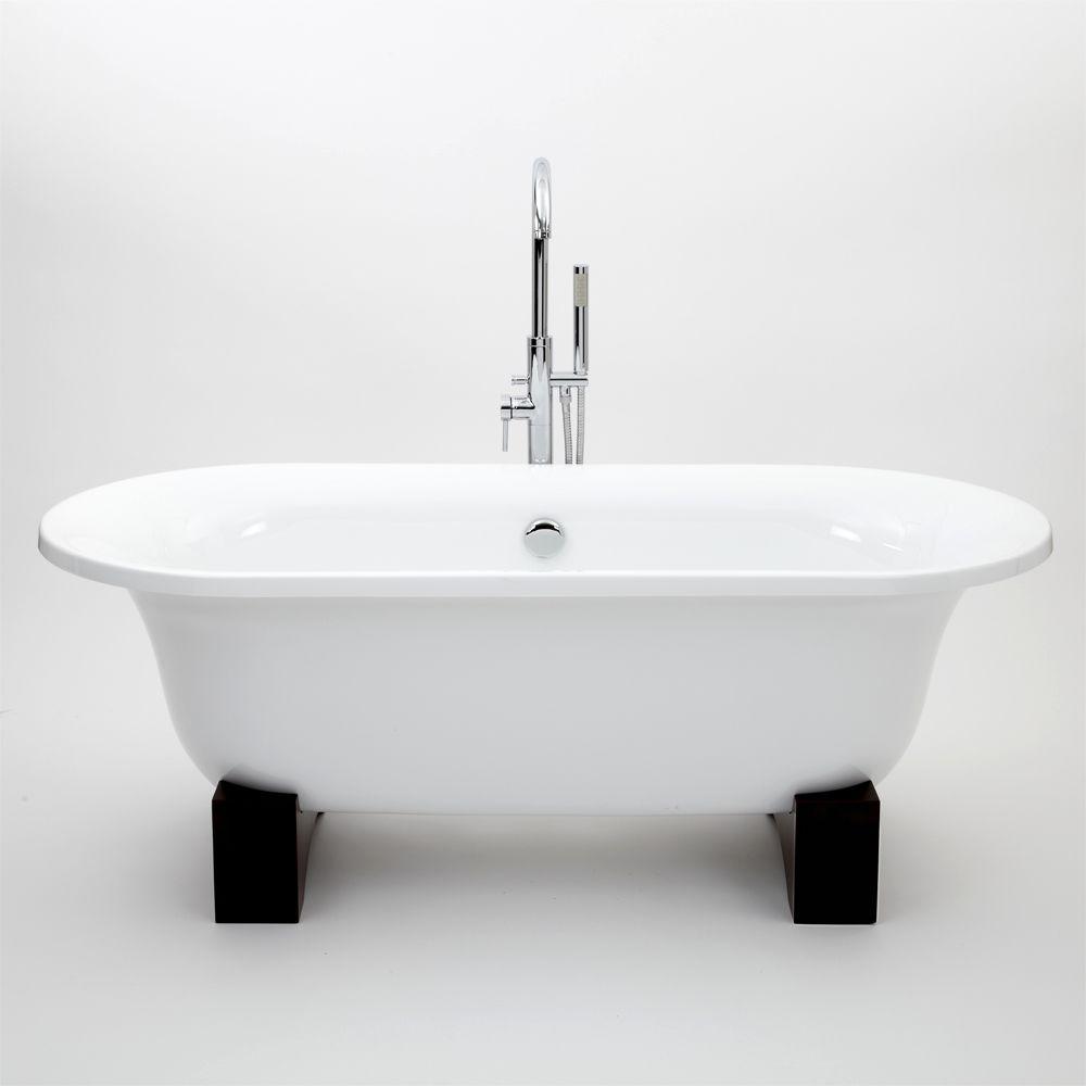 baignoire lot sur pieds en bois 79 x 175cm. Black Bedroom Furniture Sets. Home Design Ideas