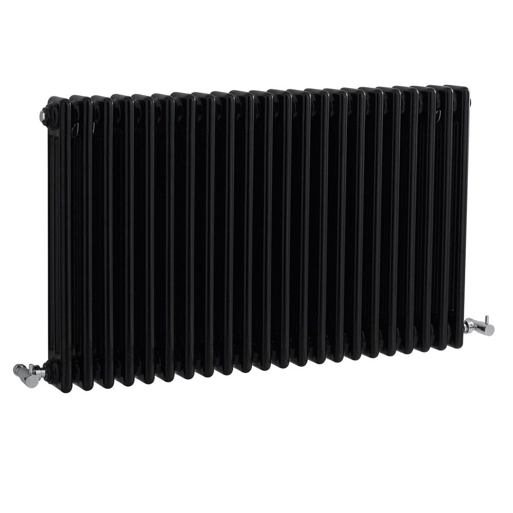 radiateur horizontal style fonte noir windsor 60cm x 101 1cm x 10cm 2217 watts. Black Bedroom Furniture Sets. Home Design Ideas