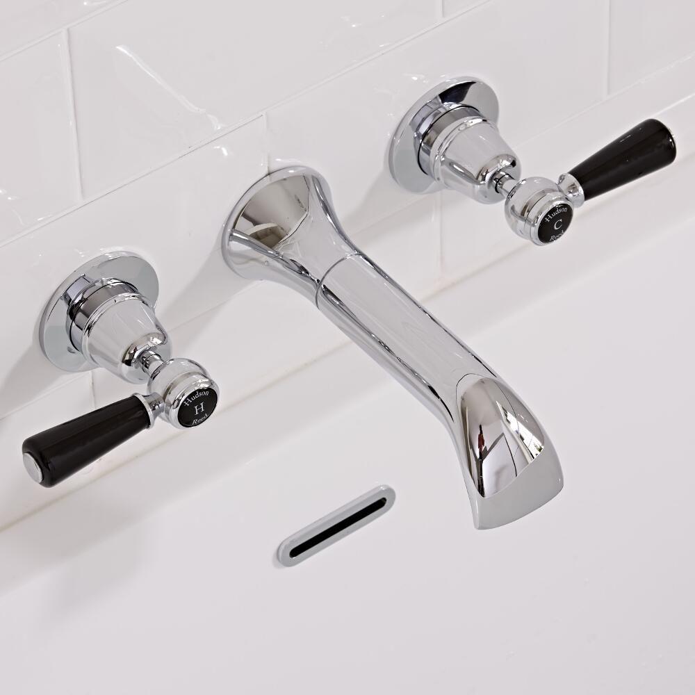 Robinet lavabo Rétro Encastré Topaz Noir