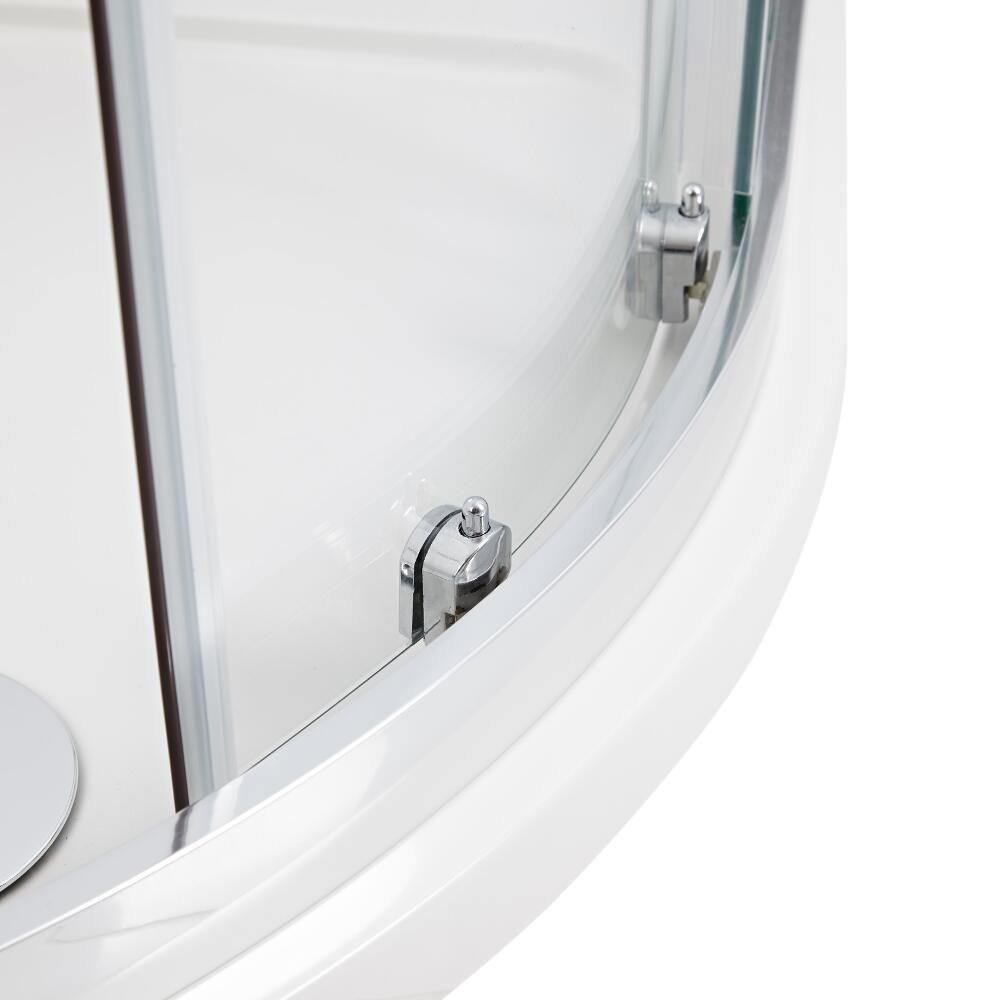 cabine de douche acc s d 39 angle 80x100x195cm hutton. Black Bedroom Furniture Sets. Home Design Ideas