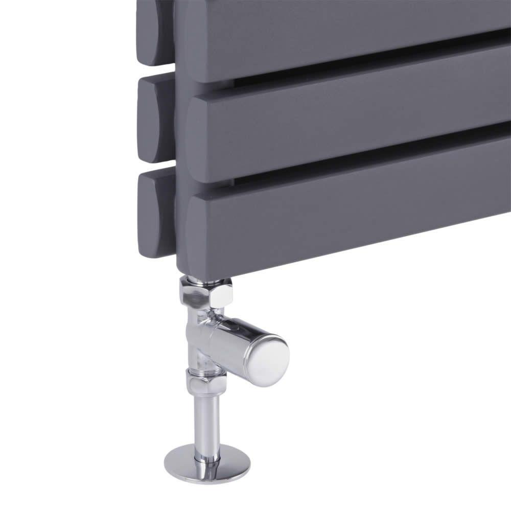 robinet de radiateur droit en laiton chrom. Black Bedroom Furniture Sets. Home Design Ideas