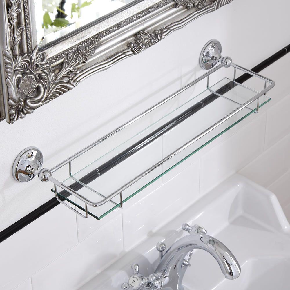 Tag re salle de bain verre chrome ambience - Etagere en verre salle de bain ...