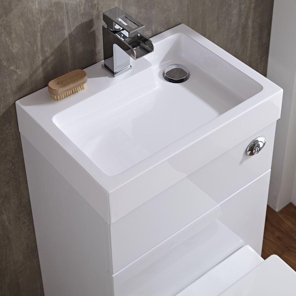 lave main wc cubique blanc. Black Bedroom Furniture Sets. Home Design Ideas