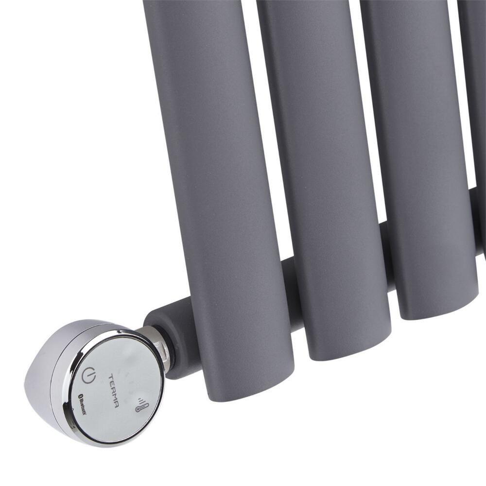 radiateur design lectrique horizontal anthracite vitality 63 5cm x 59 5cm x 5 5cm. Black Bedroom Furniture Sets. Home Design Ideas