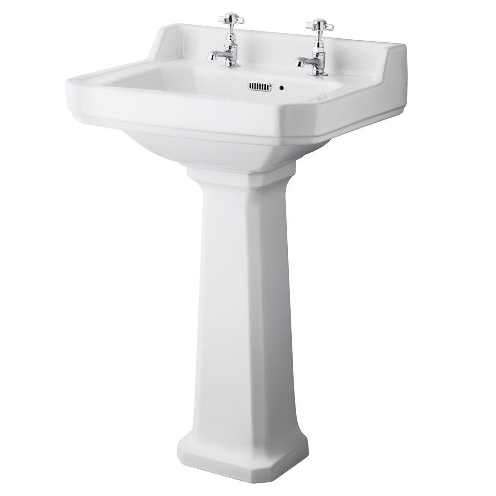 lavabo 56cm wc r tro abattant au choix. Black Bedroom Furniture Sets. Home Design Ideas