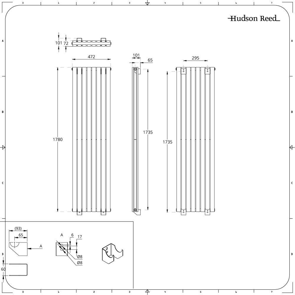 hudson reed radiateur vertical amazing radiateur colonne vertical hudson reed x style fonte. Black Bedroom Furniture Sets. Home Design Ideas
