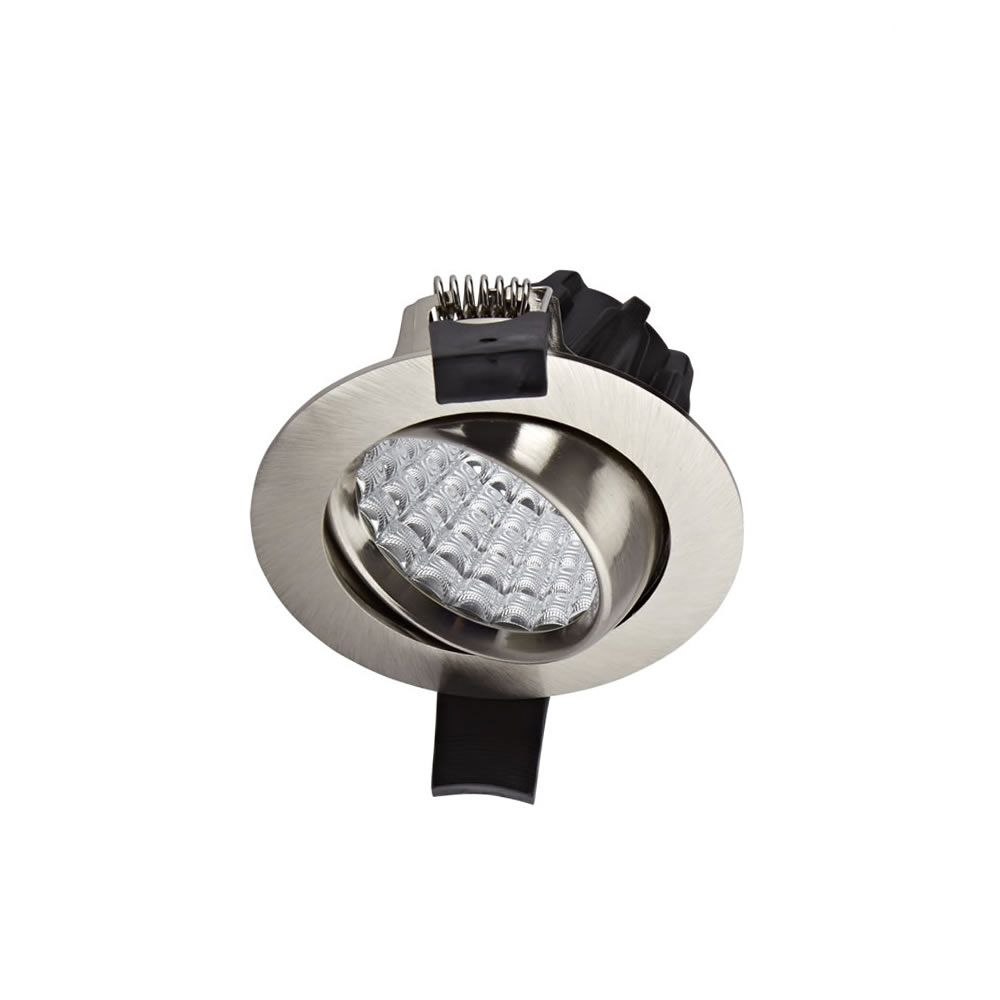 biard spot led encastrable 7 watts dimmable orientable nickel bross. Black Bedroom Furniture Sets. Home Design Ideas