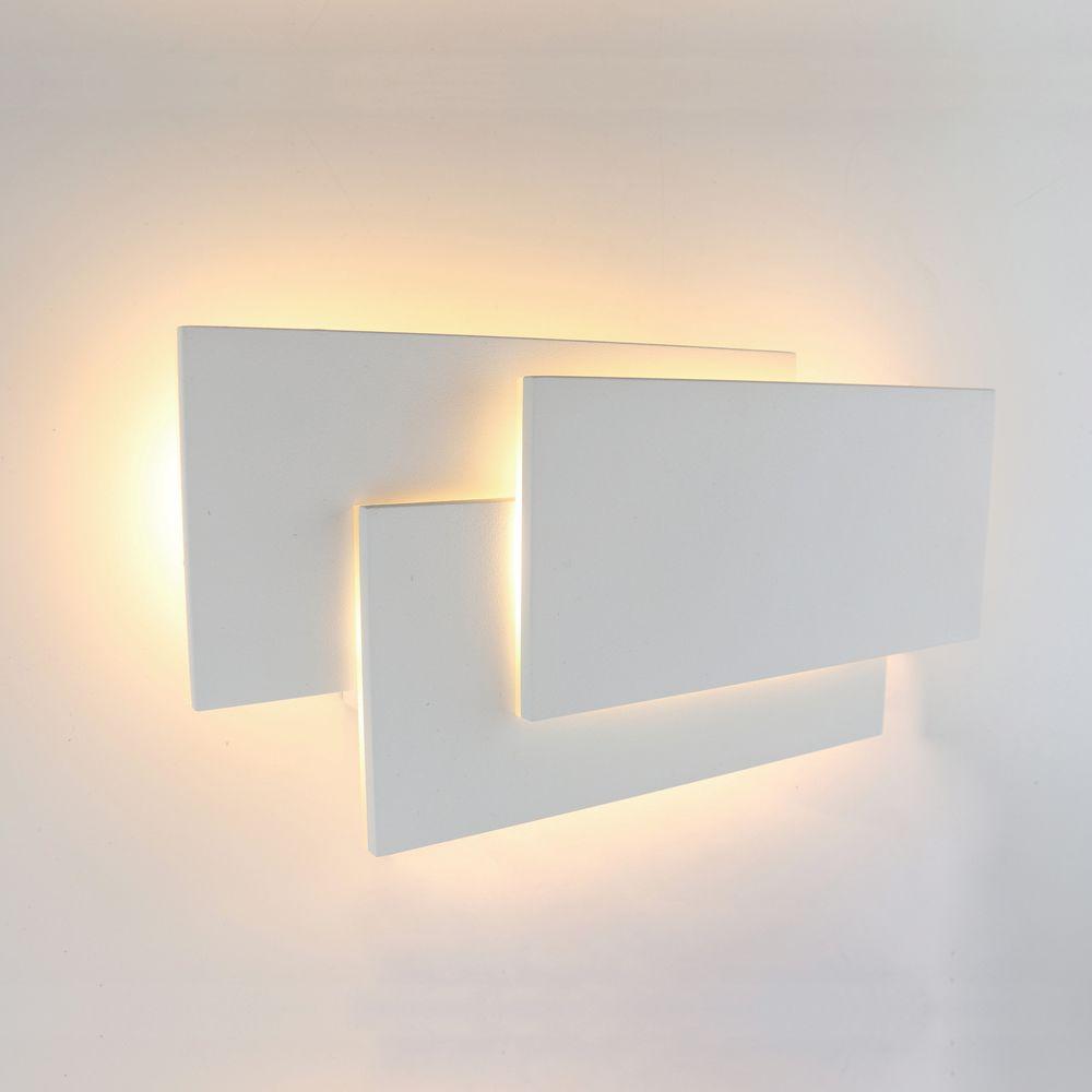 Biard Applique Murale Rectangulaire Led 12w Piran Blanc