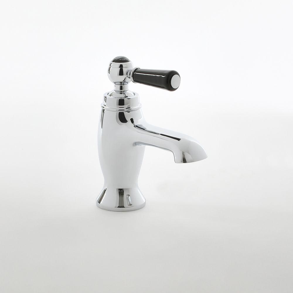 Mitigeur lavabo monotrou rétro – Commande levier – Chromé et noir -  Elizabeth