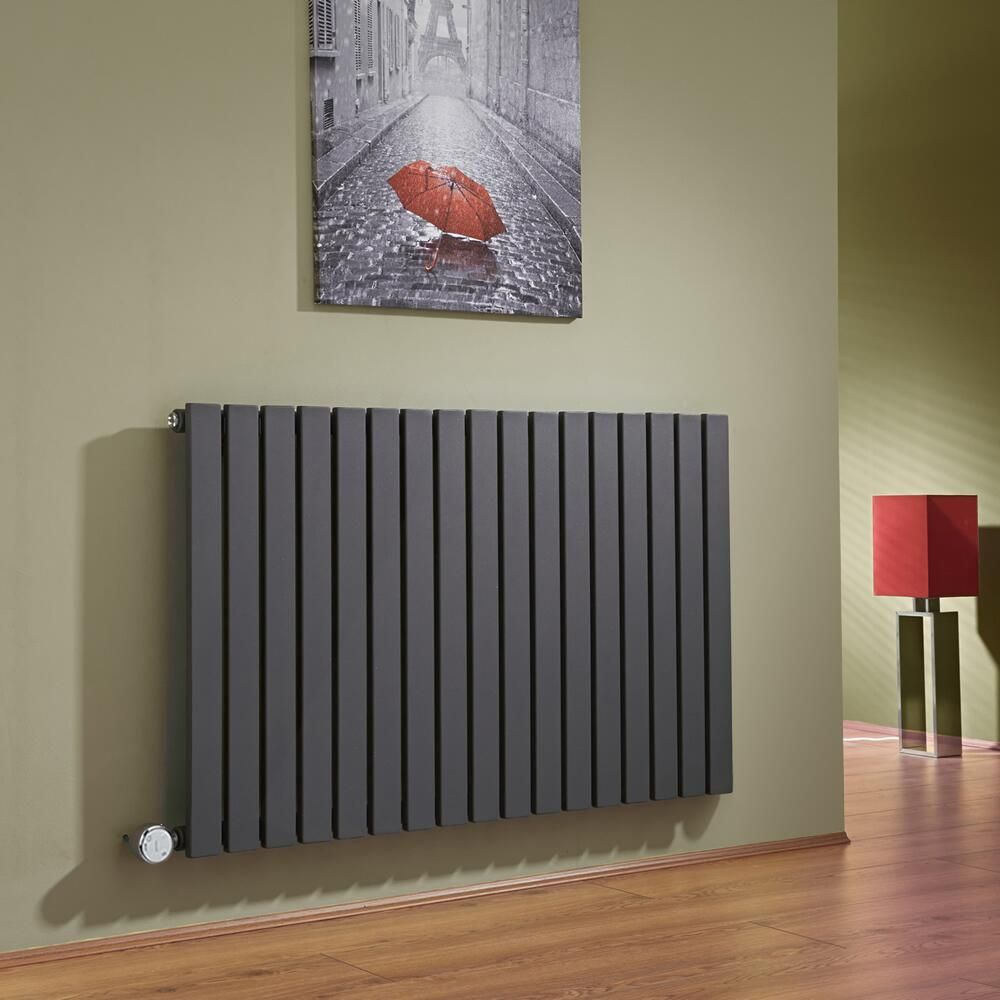 radiateur design lectrique horizontal anthracite sloane 63 5cm x 100cm x 5 4cm. Black Bedroom Furniture Sets. Home Design Ideas