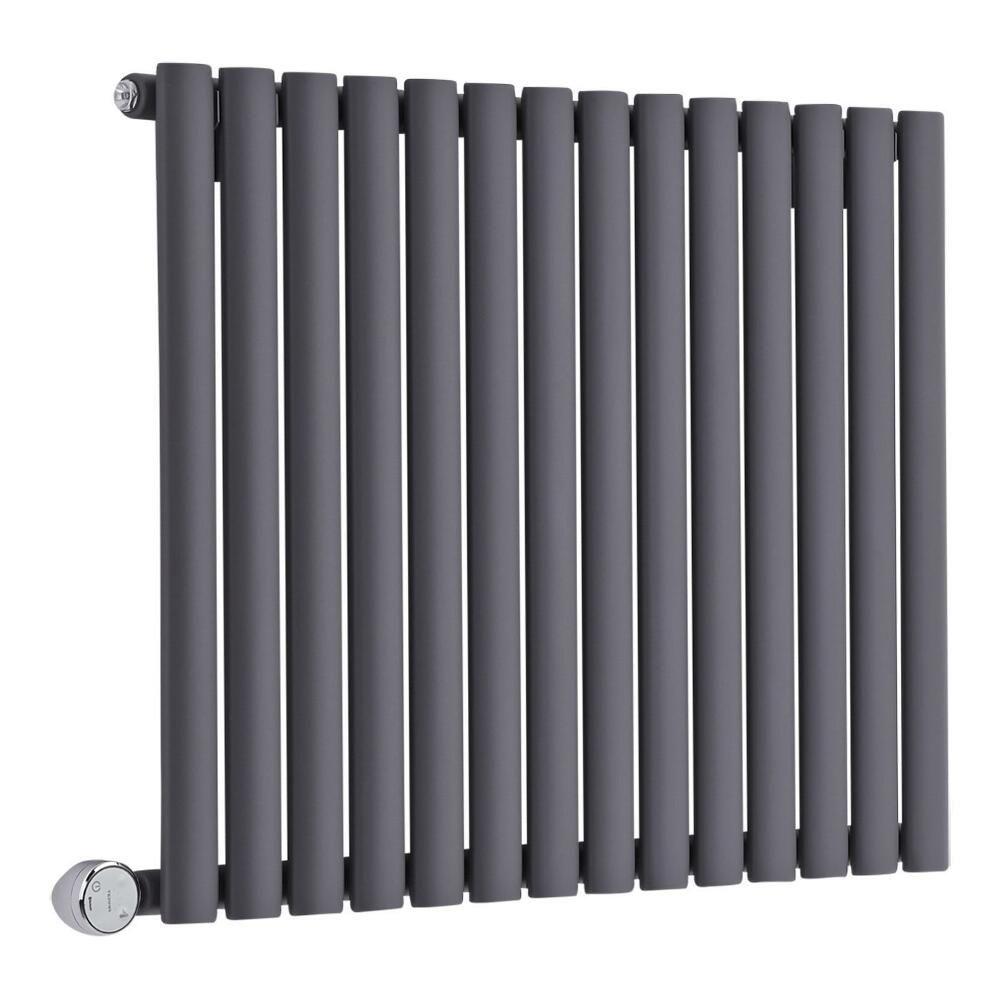radiateur design lectrique horizontal anthracite vitality 63 5cm x 83 4cm x 5 6cm. Black Bedroom Furniture Sets. Home Design Ideas