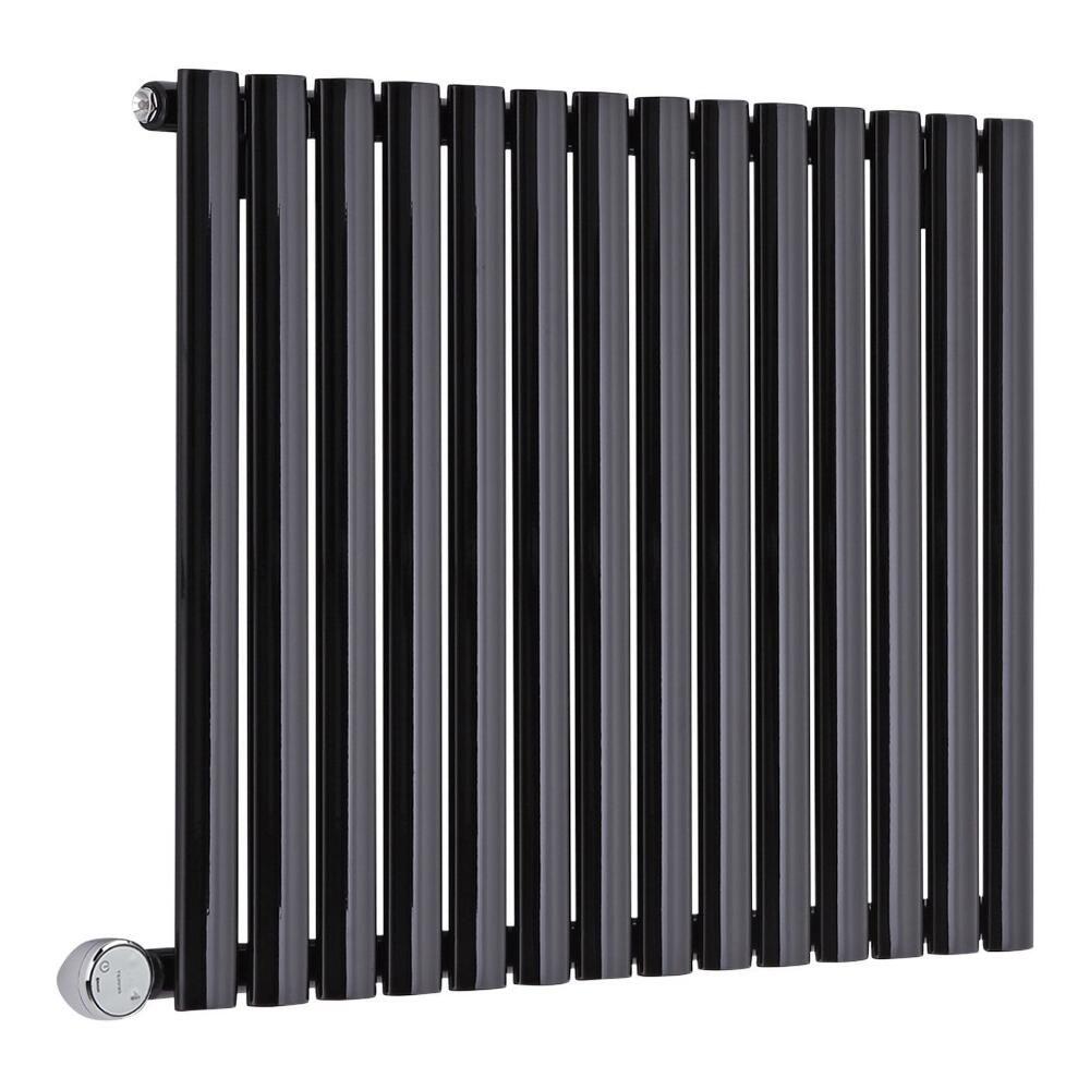 radiateur design lectrique horizontal noir vitality 63 5cm x x 5 6cm. Black Bedroom Furniture Sets. Home Design Ideas
