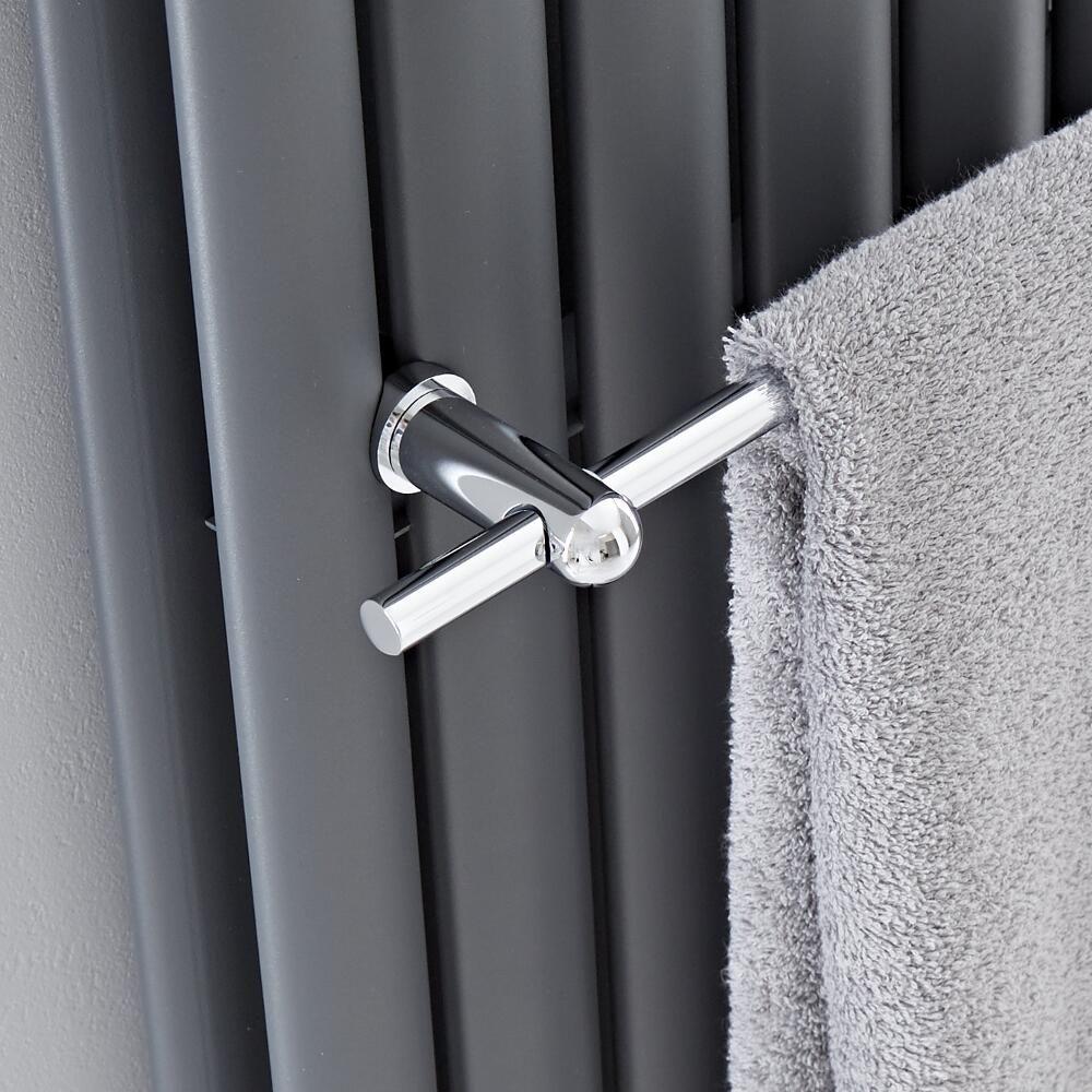 barre porte serviettes chrom e 47cm pour radiateur vitality delta. Black Bedroom Furniture Sets. Home Design Ideas