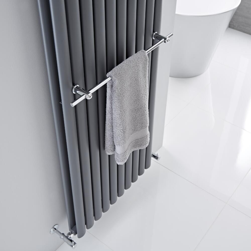 barre porte serviettes chrom e 59cm pour radiateur vitality delta. Black Bedroom Furniture Sets. Home Design Ideas
