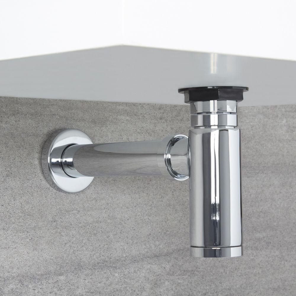 Siphon Design Lavabo Vasque Fini Chrome