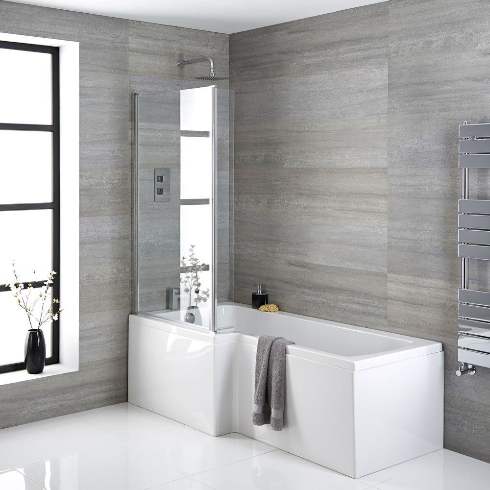 baignoire asym trique 170x85cm angle gauche pare. Black Bedroom Furniture Sets. Home Design Ideas