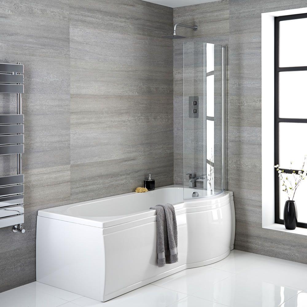 baignoire d 39 angle asym trique 167 5 x 85cm angle droit. Black Bedroom Furniture Sets. Home Design Ideas